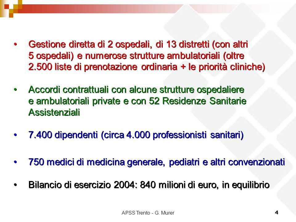 7.400 dipendenti (circa 4.000 professionisti sanitari)