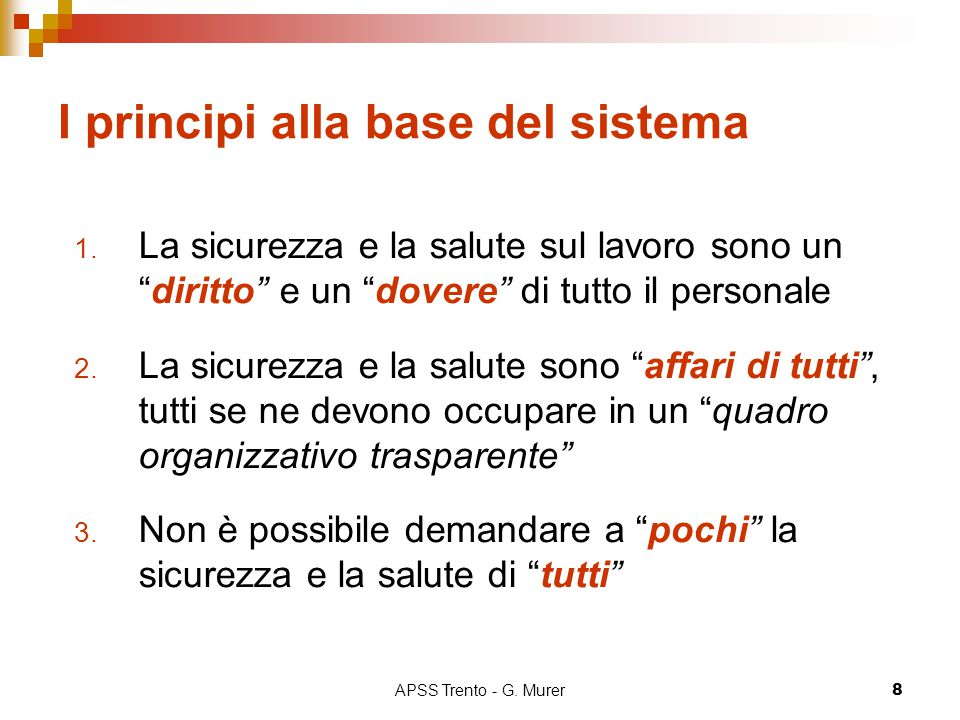I principi alla base del sistema