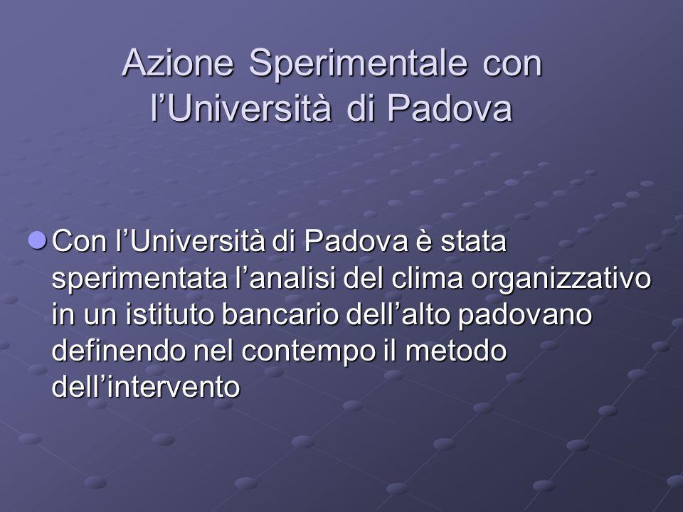 Azione Sperimentale con l'Università di Padova