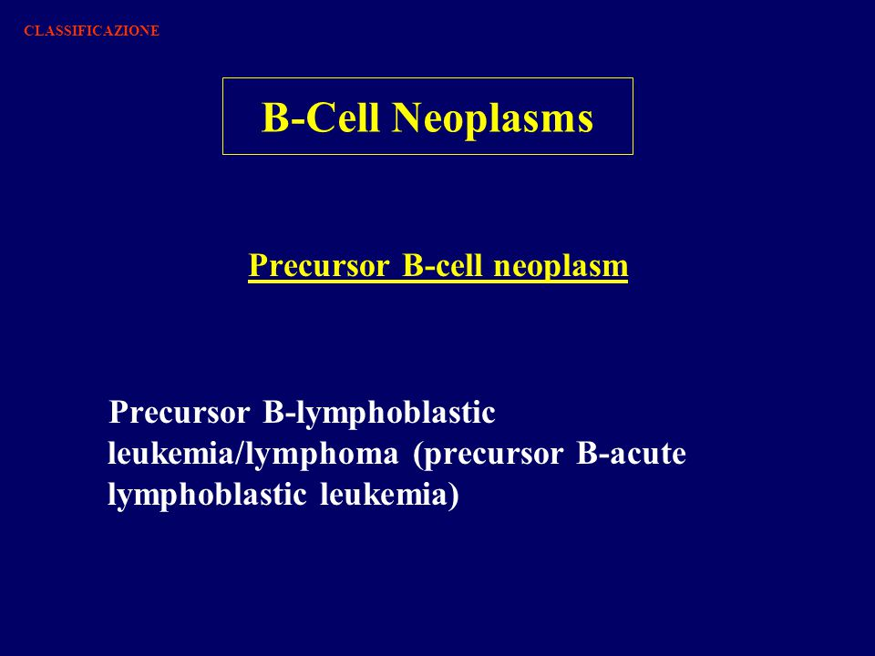 Precursor B-cell neoplasm
