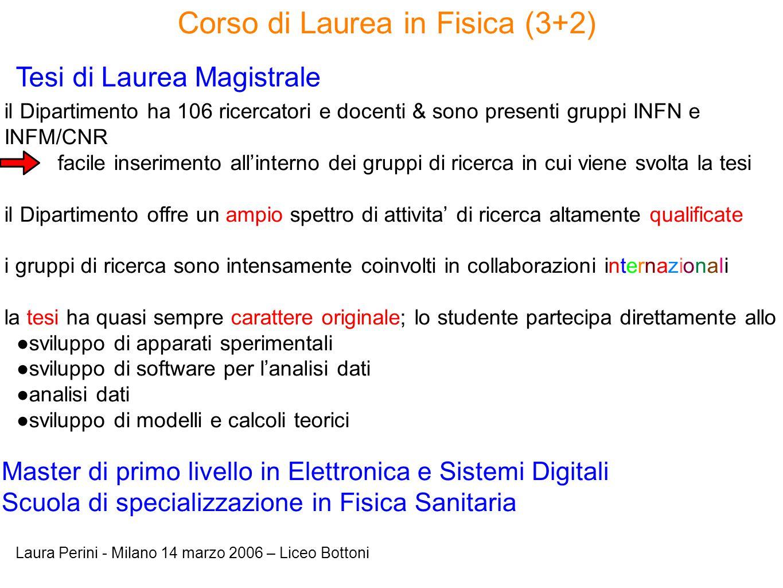 Corso di Laurea in Fisica (3+2)