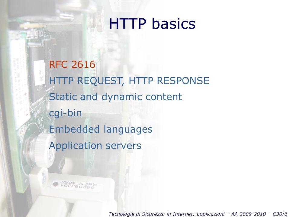 HTTP basics RFC 2616 HTTP REQUEST, HTTP RESPONSE