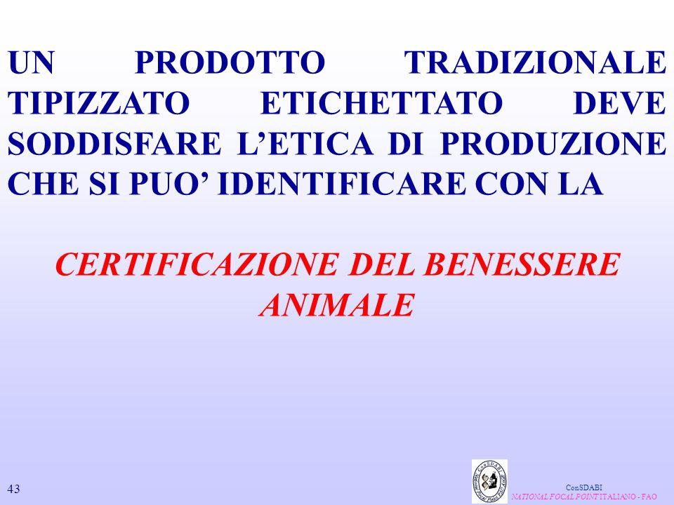 CERTIFICAZIONE DEL BENESSERE ANIMALE