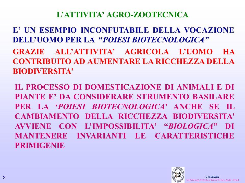 L'ATTIVITA' AGRO-ZOOTECNICA