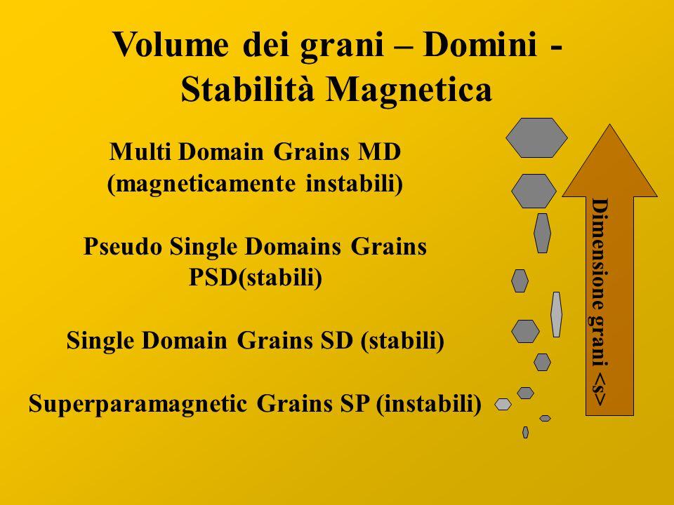 Volume dei grani – Domini - Stabilità Magnetica