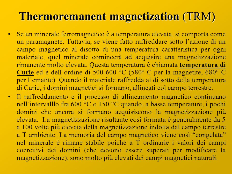 Thermoremanent magnetization (TRM)