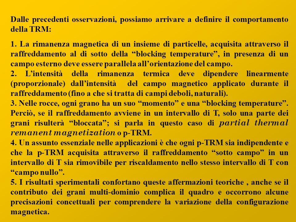 Dalle precedenti osservazioni, possiamo arrivare a definire il comportamento della TRM: