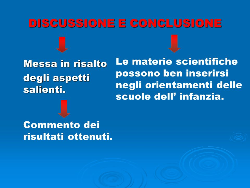 DISCUSSIONE E CONCLUSIONE