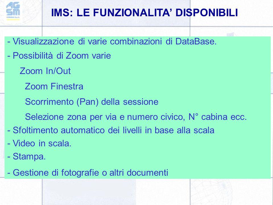 IMS: LE FUNZIONALITA' DISPONIBILI