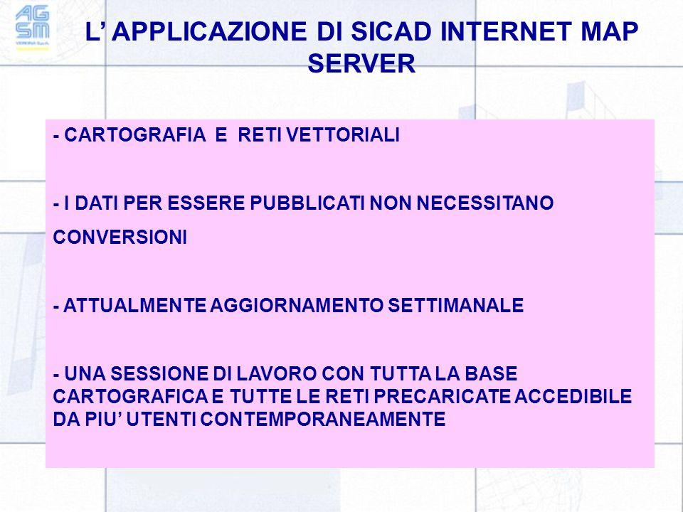 L' APPLICAZIONE DI SICAD INTERNET MAP SERVER