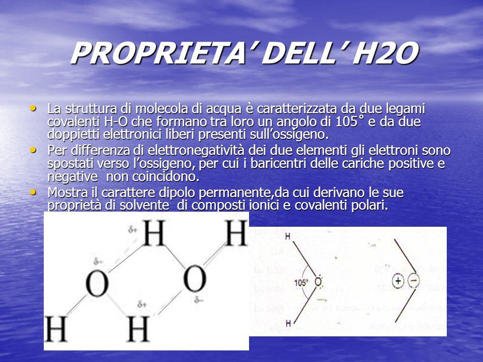 PROPRIETA' DELL' H2O