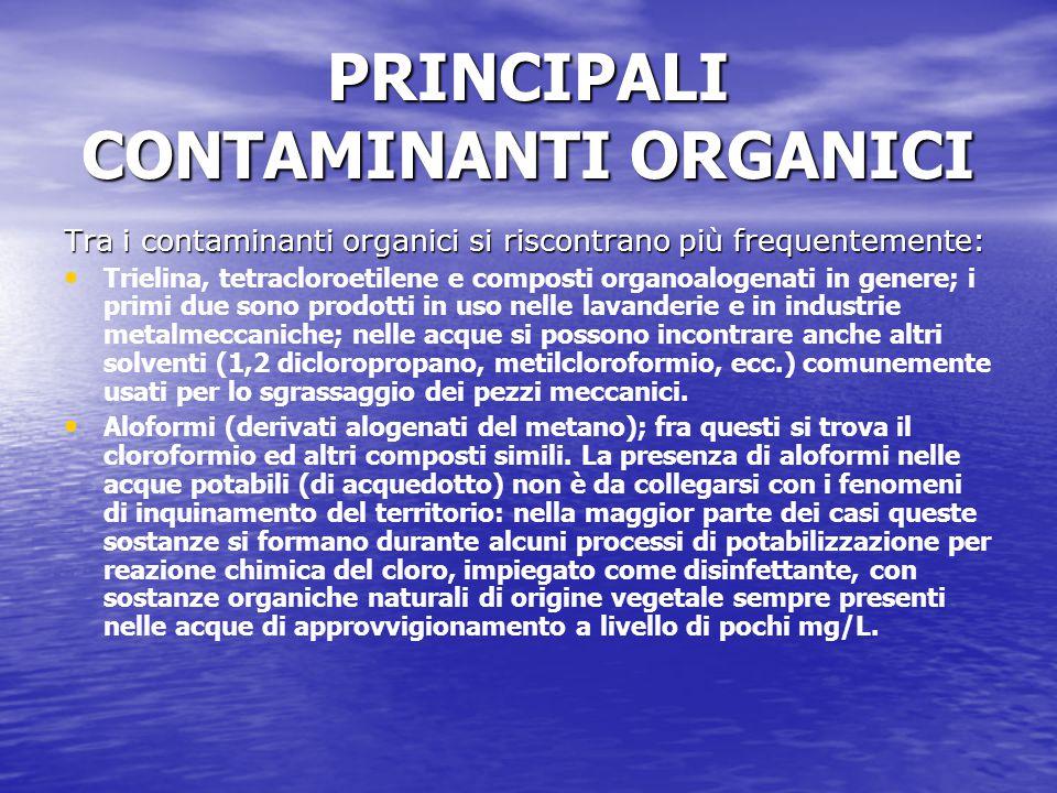 PRINCIPALI CONTAMINANTI ORGANICI