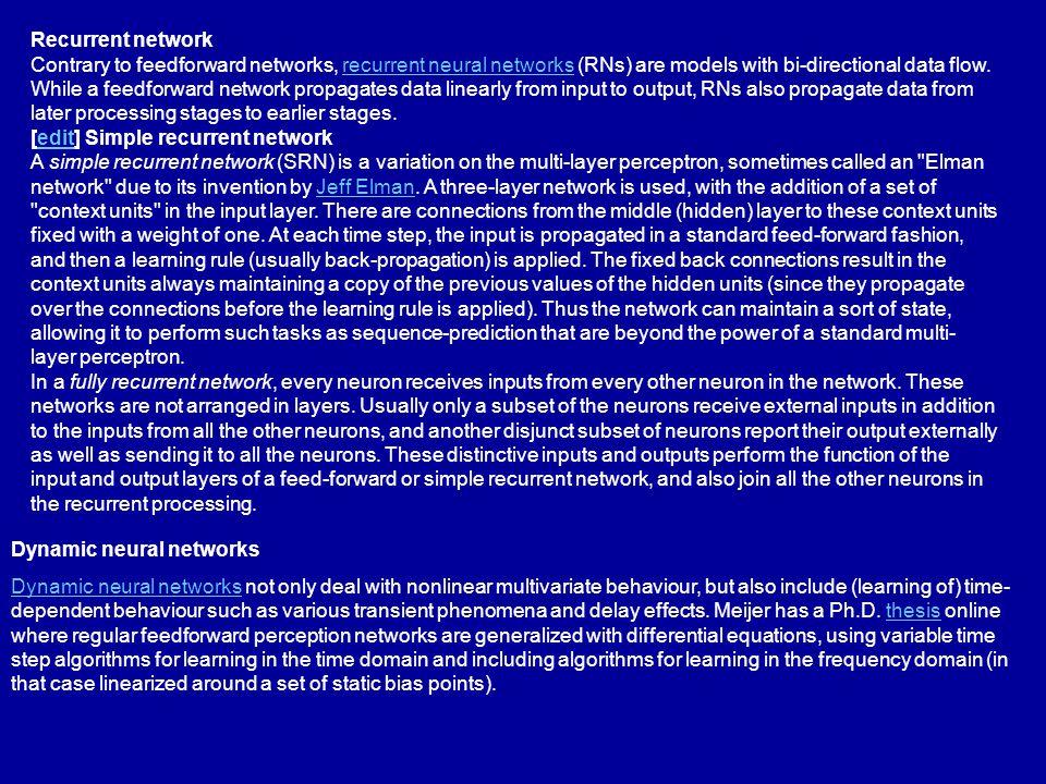 Recurrent network
