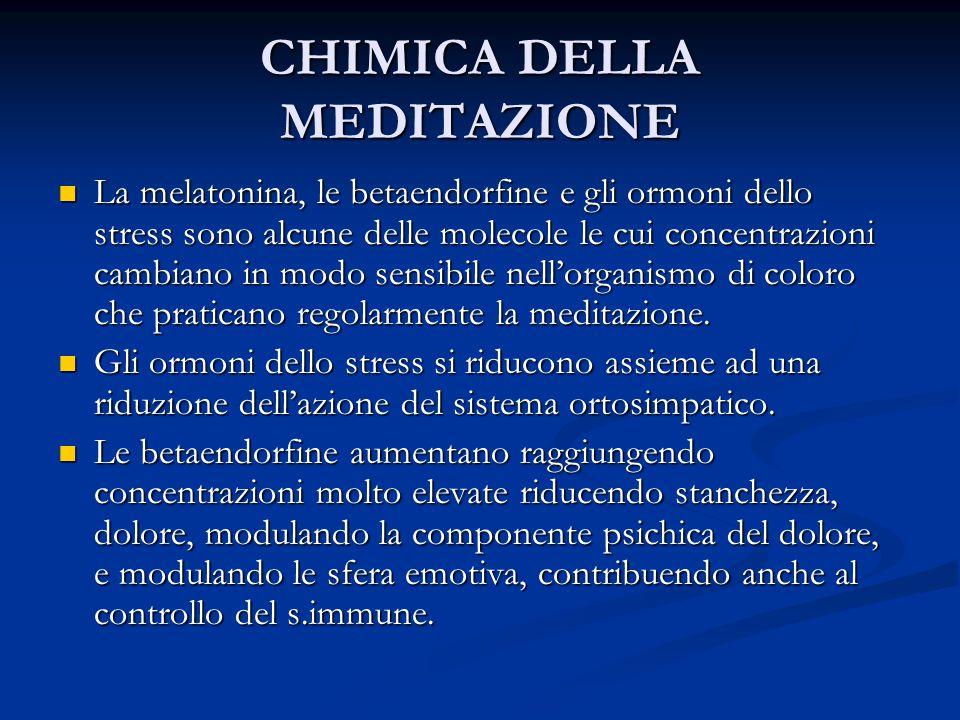CHIMICA DELLA MEDITAZIONE