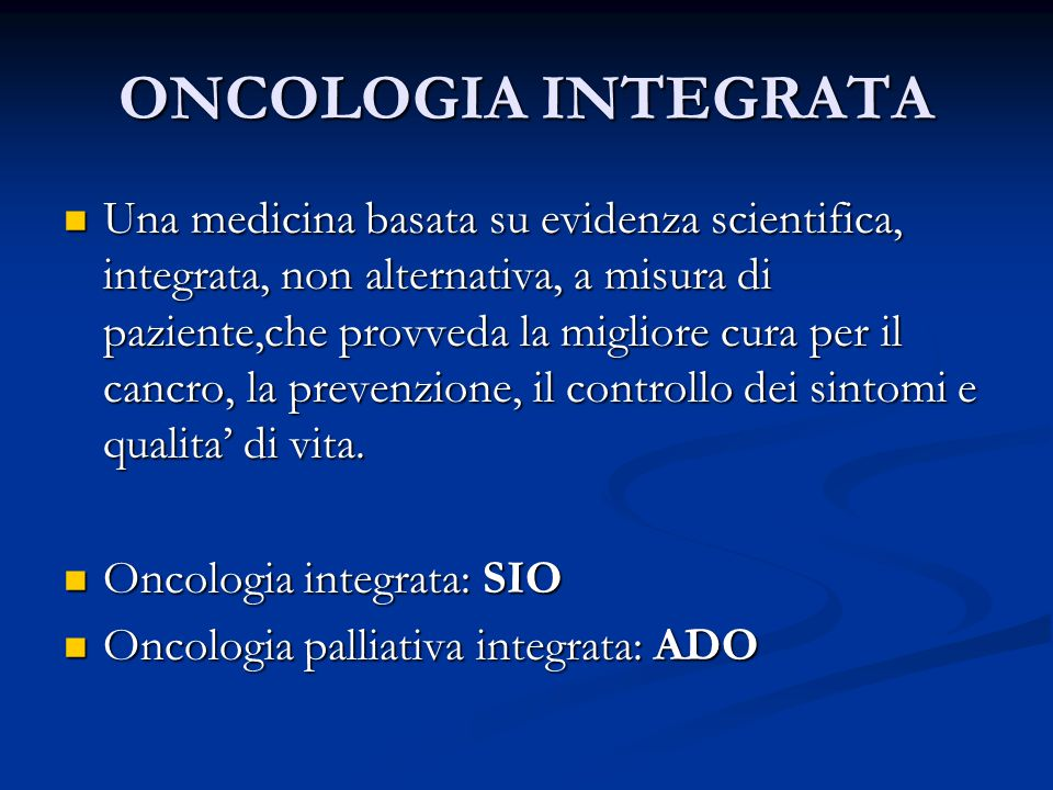 ONCOLOGIA INTEGRATA