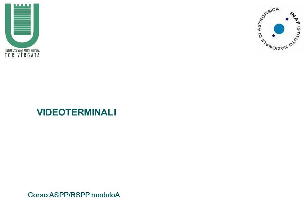 VIDEOTERMINALI Corso ASPP/RSPP moduloA