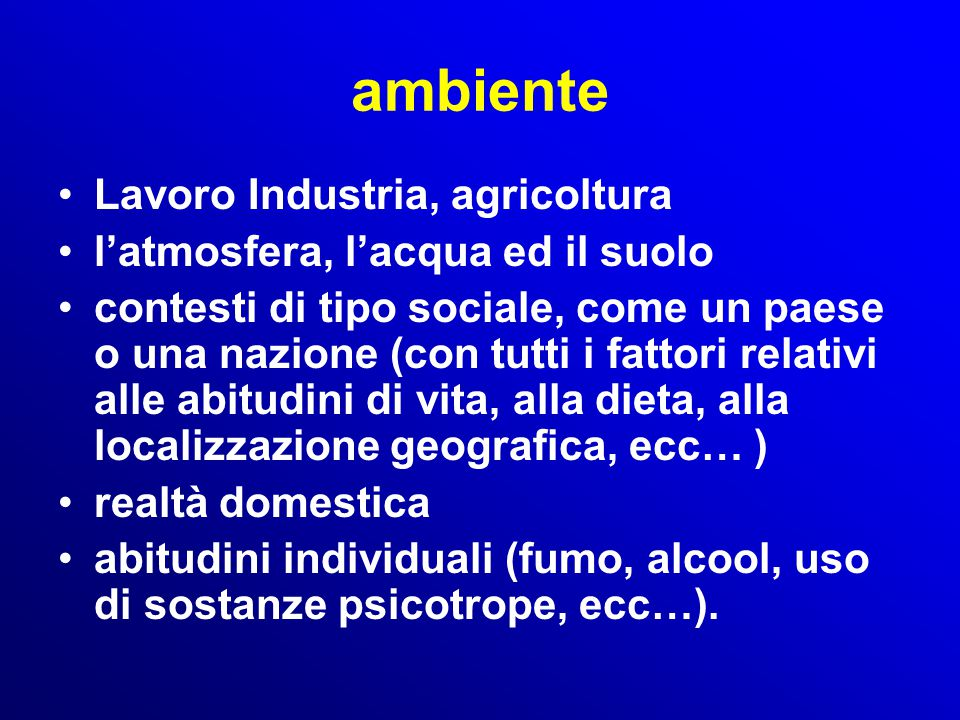 ambiente Lavoro Industria, agricoltura