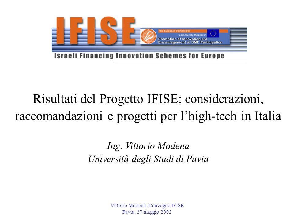 Risultati del Progetto IFISE: considerazioni,