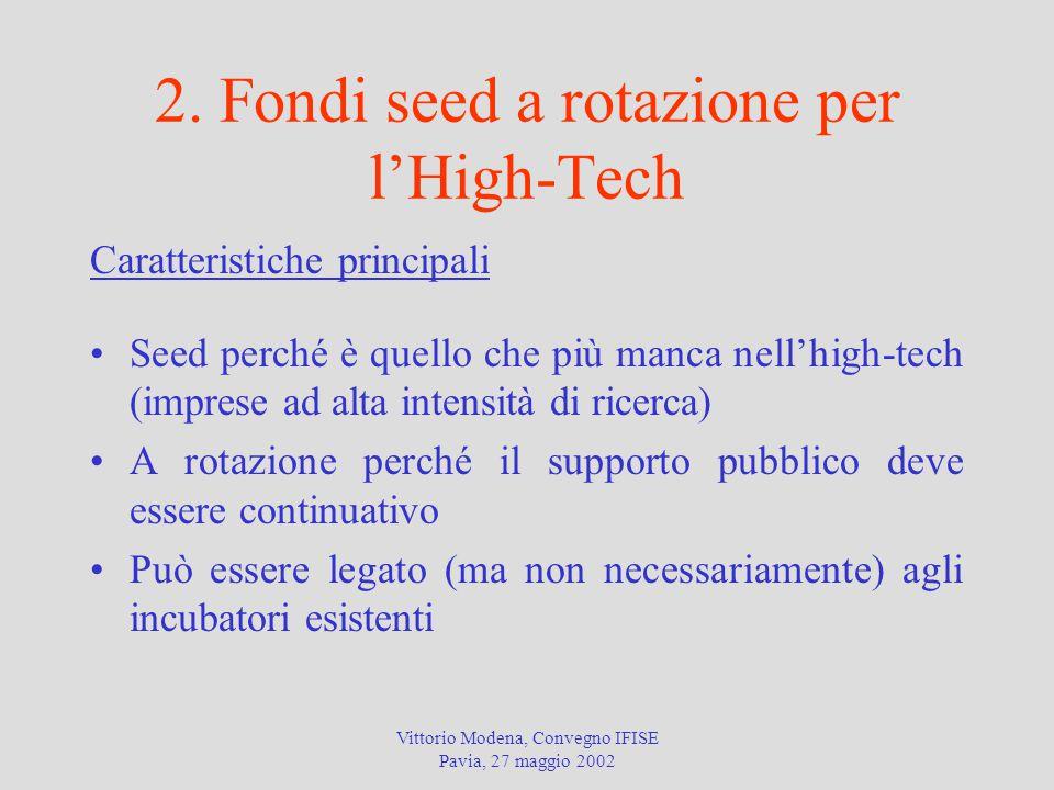 2. Fondi seed a rotazione per l'High-Tech