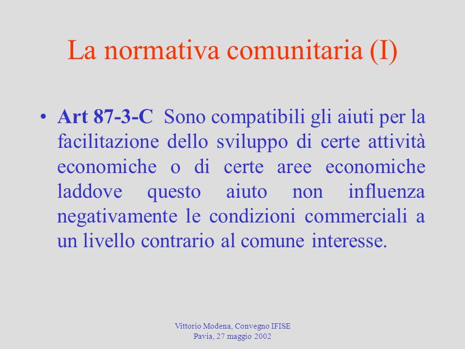 La normativa comunitaria (I)