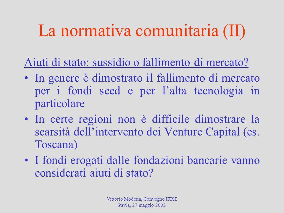 La normativa comunitaria (II)