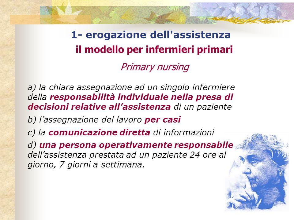 1- erogazione dell assistenza il modello per infermieri primari