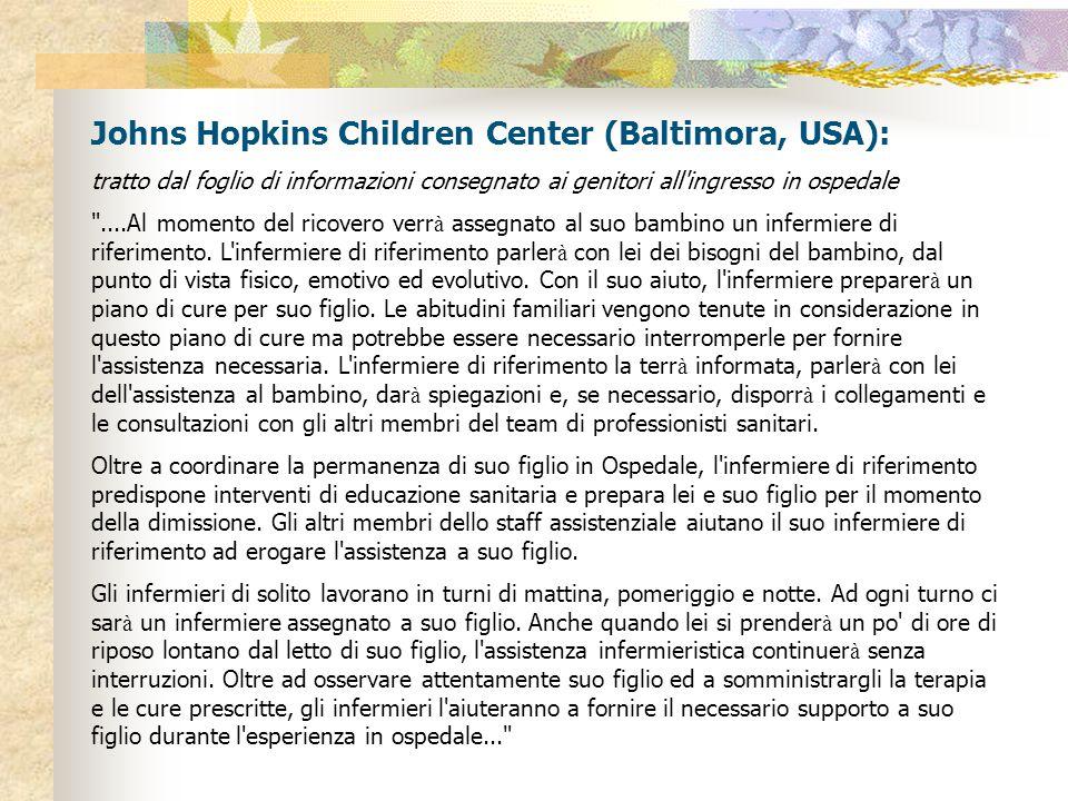 Johns Hopkins Children Center (Baltimora, USA):