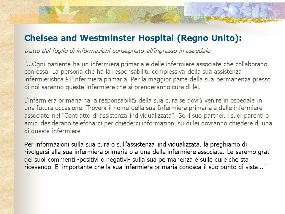 Chelsea and Westminster Hospital (Regno Unito):