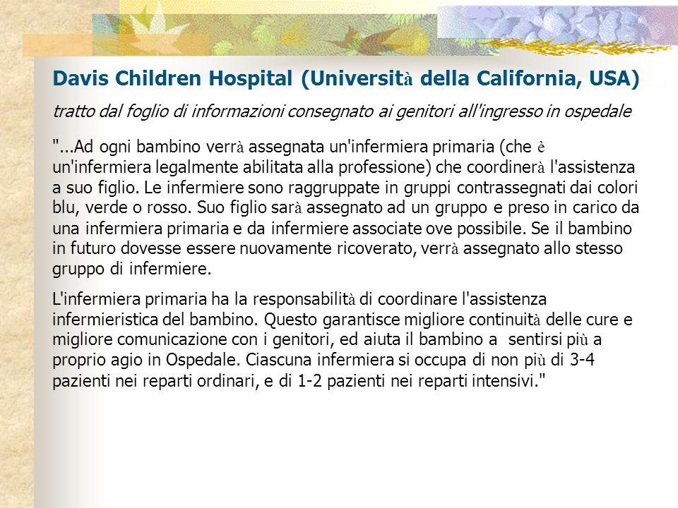 Davis Children Hospital (Università della California, USA)