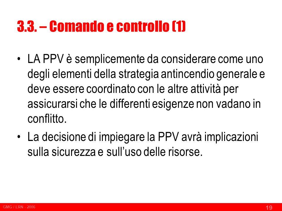 3.3. – Comando e controllo (1)