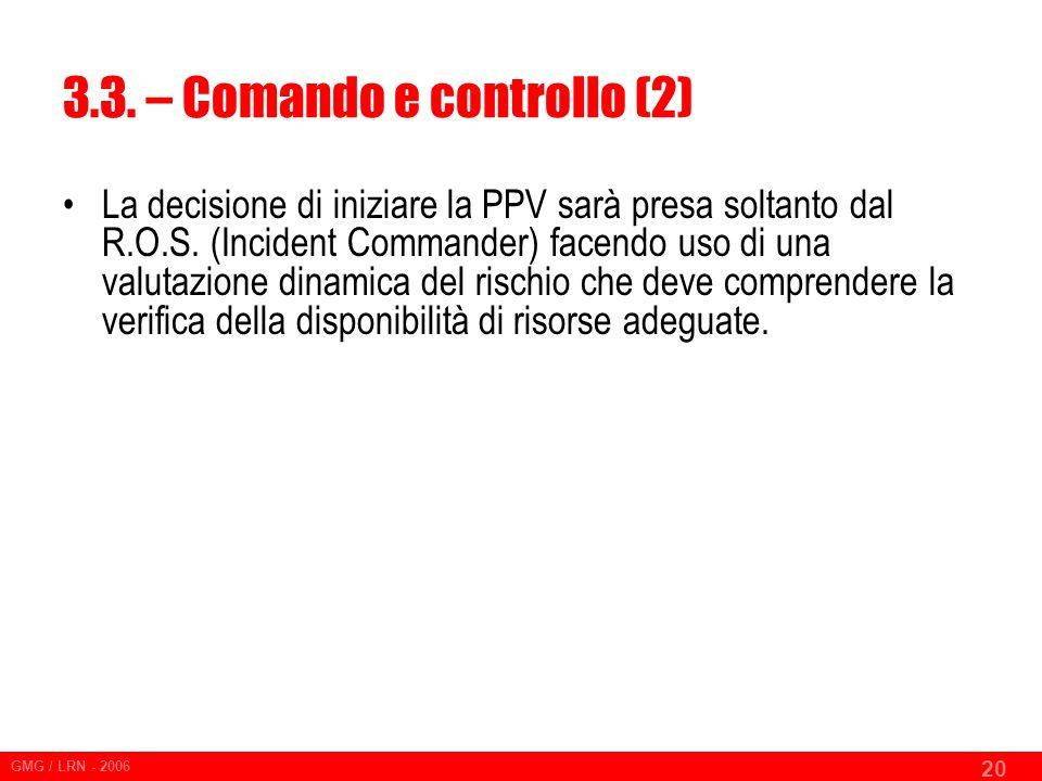 3.3. – Comando e controllo (2)