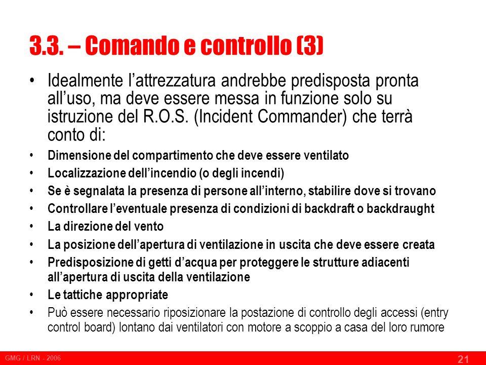 3.3. – Comando e controllo (3)
