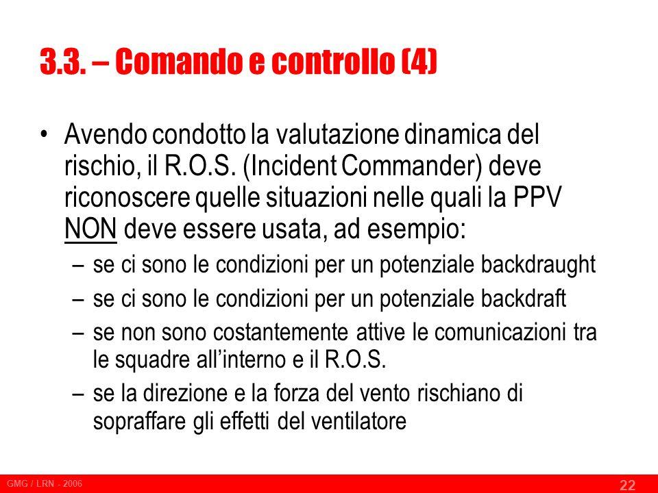 3.3. – Comando e controllo (4)