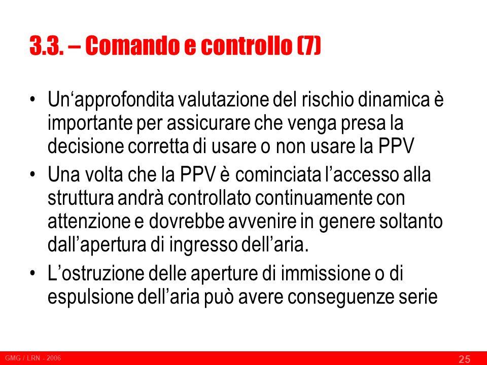 3.3. – Comando e controllo (7)