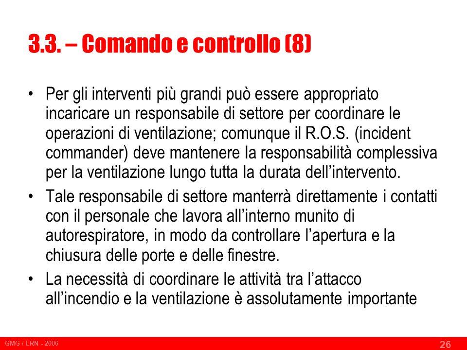 3.3. – Comando e controllo (8)