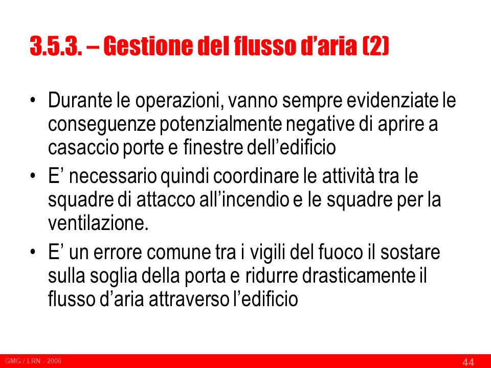 3.5.3. – Gestione del flusso d'aria (2)