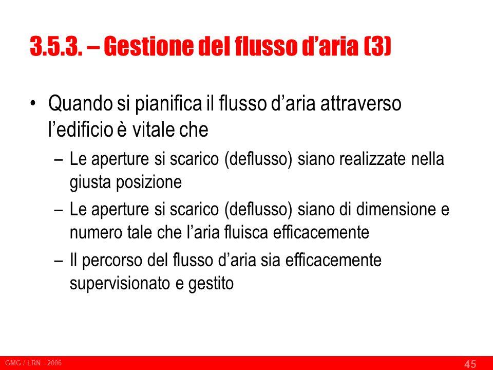 3.5.3. – Gestione del flusso d'aria (3)