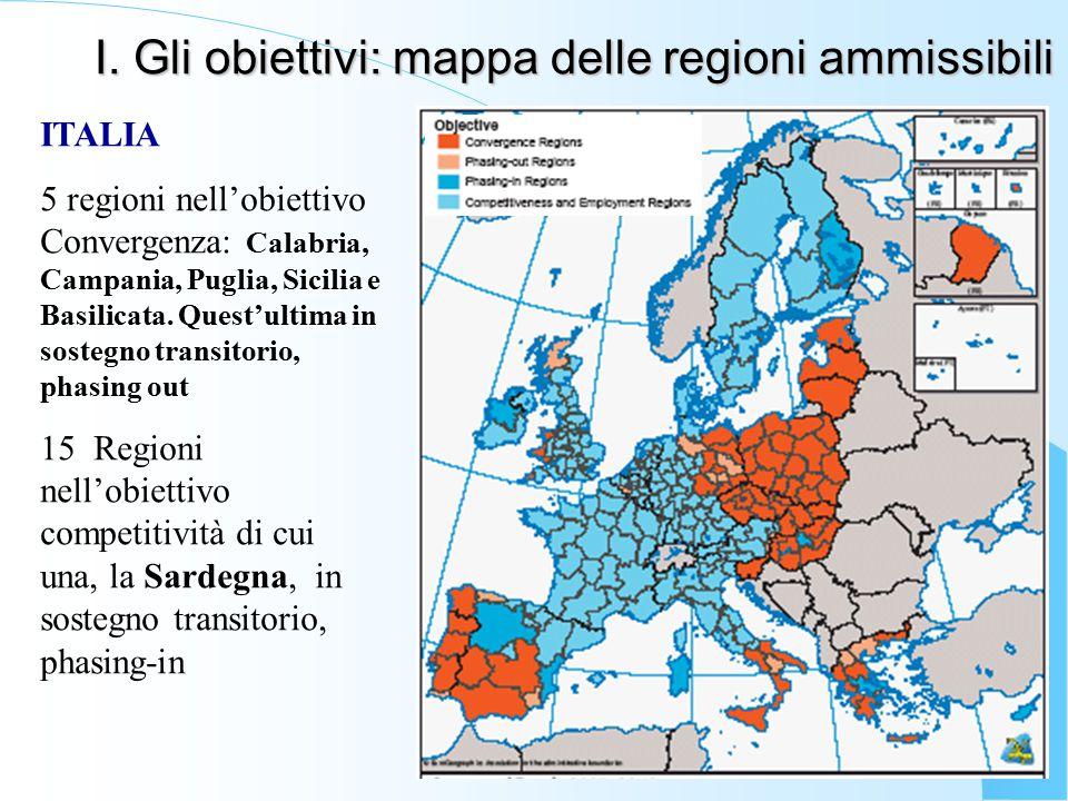 I. Gli obiettivi: mappa delle regioni ammissibili