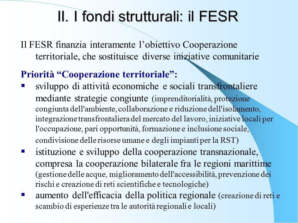 II. I fondi strutturali: il FESR