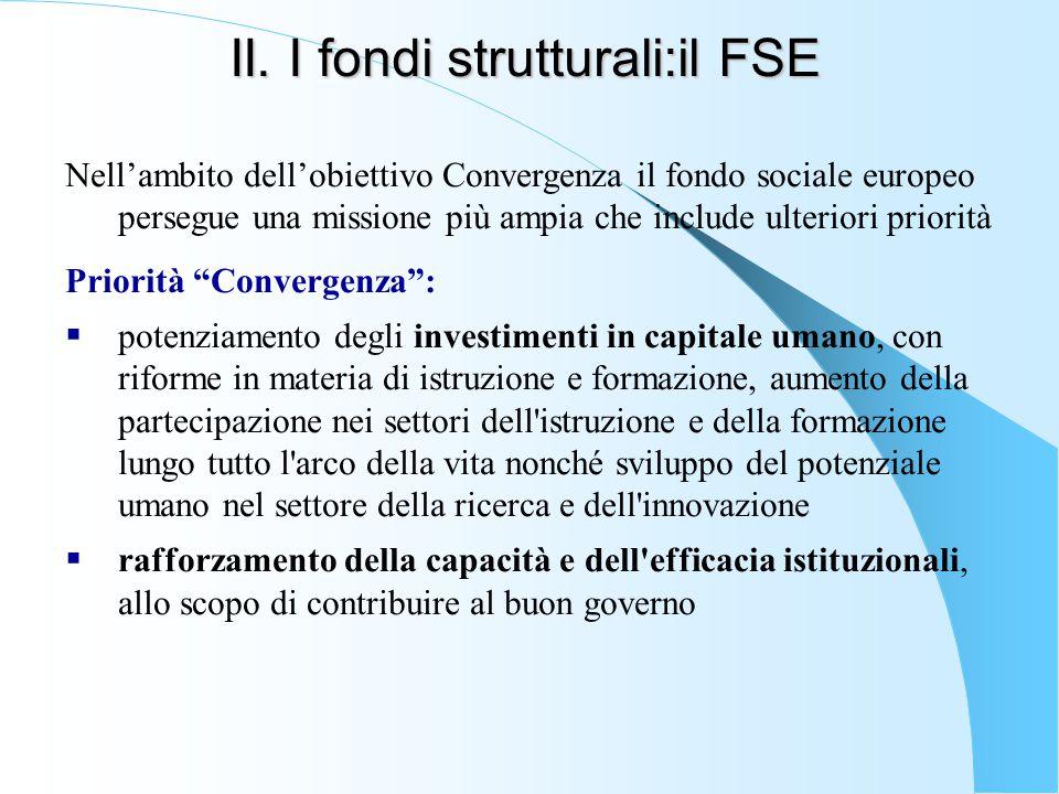 II. I fondi strutturali:il FSE