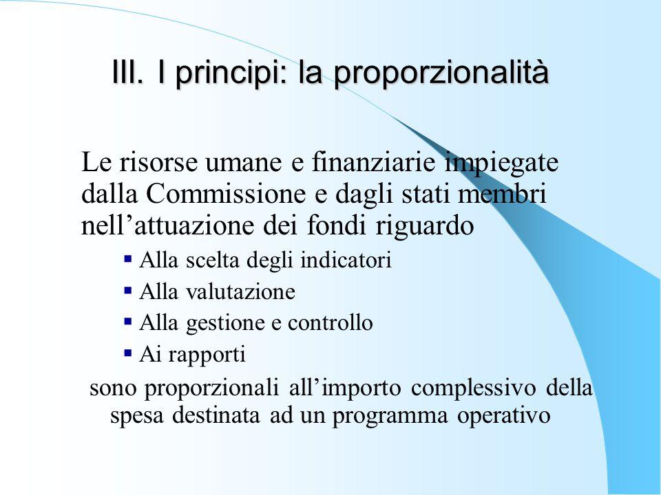 III. I principi: la proporzionalità