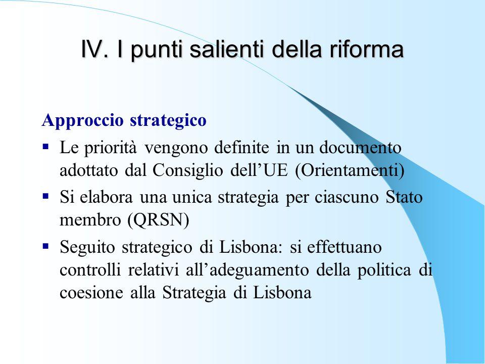 IV. I punti salienti della riforma