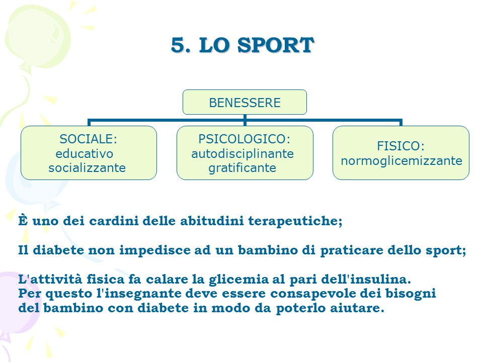 5. LO SPORT