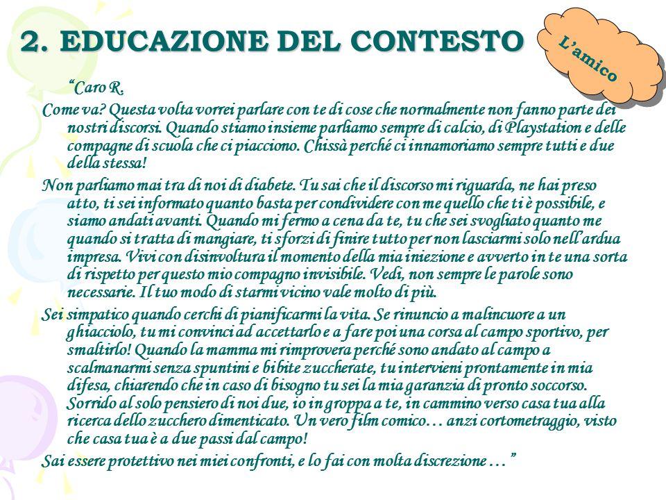2. EDUCAZIONE DEL CONTESTO