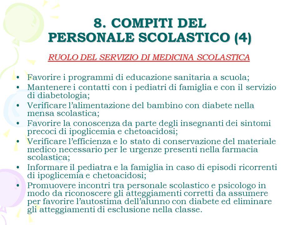 8. COMPITI DEL PERSONALE SCOLASTICO (4)