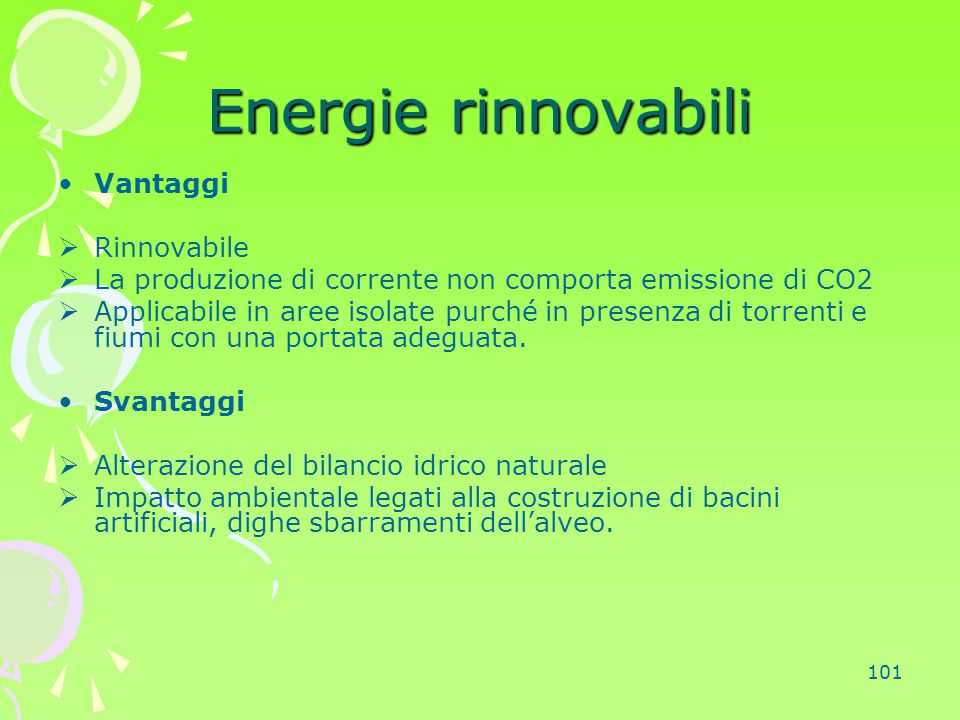 Energie rinnovabili Vantaggi Rinnovabile