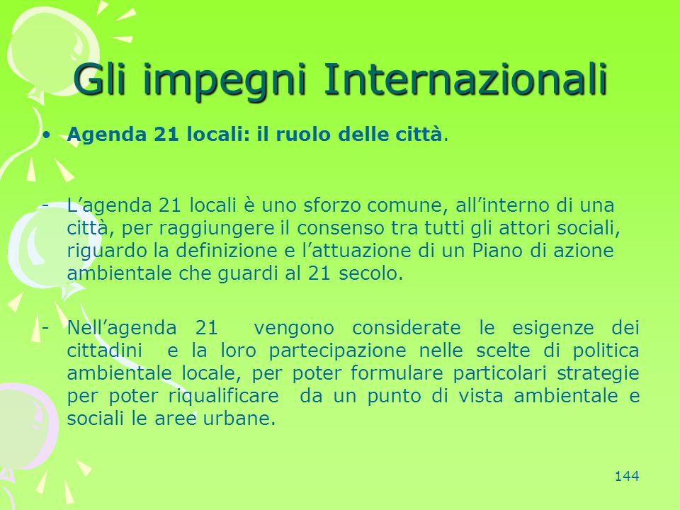Gli impegni Internazionali