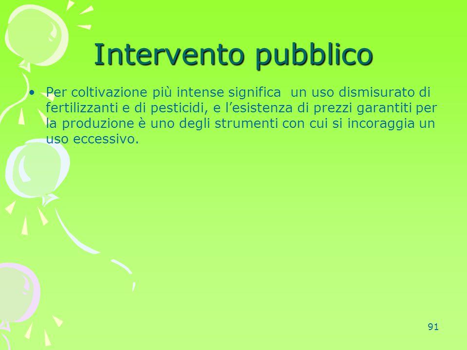 Intervento pubblico