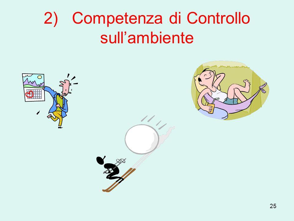2) Competenza di Controllo sull'ambiente
