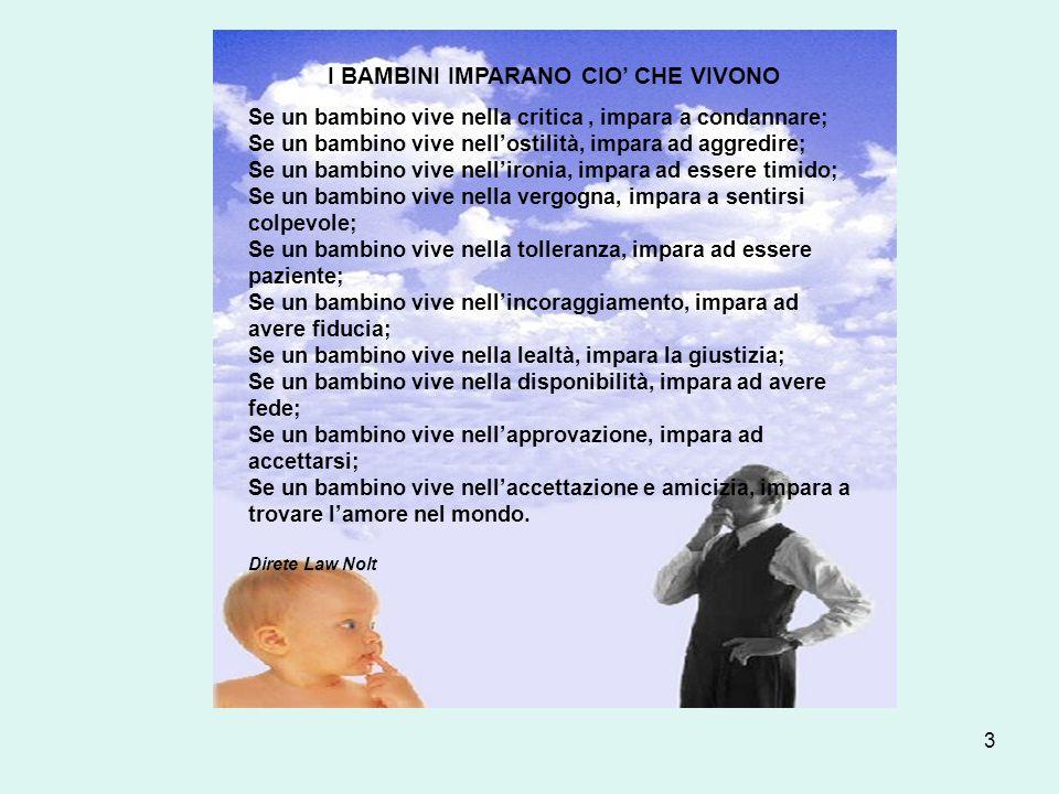 I BAMBINI IMPARANO CIO' CHE VIVONO